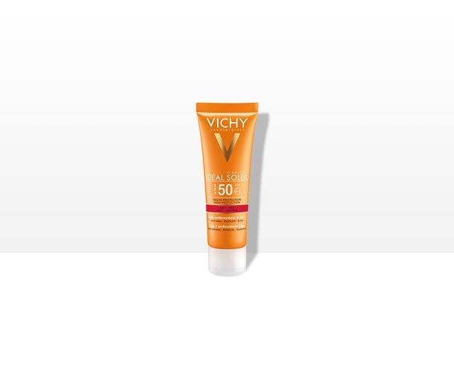 Слънцезащитен крем с антиоксидантен ефект 3-в-1 SPF 50